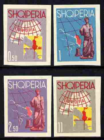 Albania 1962 Tourist Publicity (Europa) imperf set of 4 in different colours unmounted mint as SG 716-719