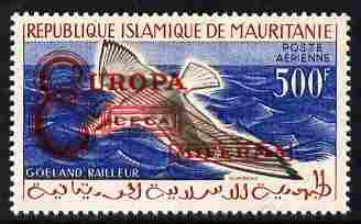Mauritania 1962 Europa Steel & Coal Community overprint on 500f Slender-billed Gull unmounted mint (unissued)