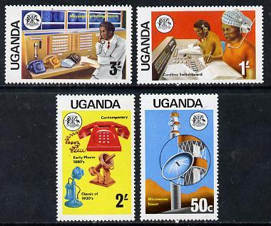 Uganda 1976 Telecommunications set of 4, SG 163-66 unmounted mint