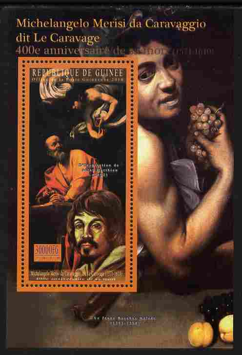 Guinea - Conakry 2010 400th Death Anniversary of Caravaggio perf s/sheet unmounted mint Michel BL 1887