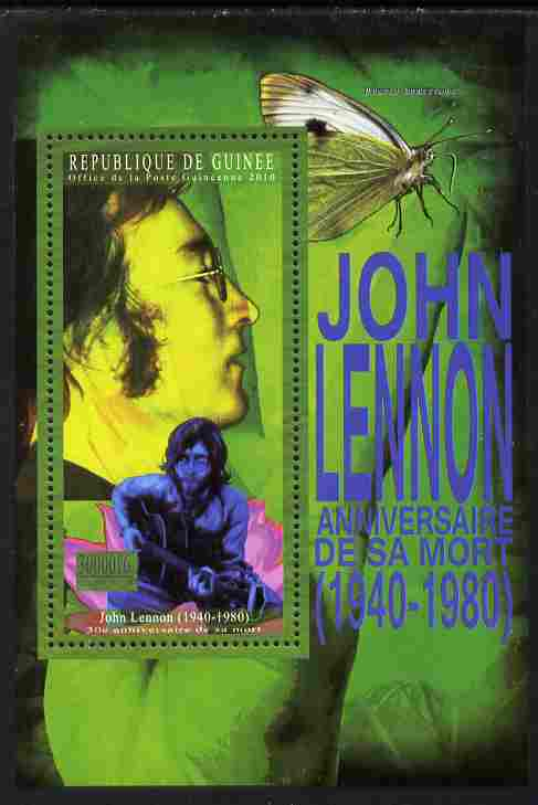 Guinea - Conakry 2010 Anniversary of John Lennon perf s/sheet unmounted mint Michel BL 1892