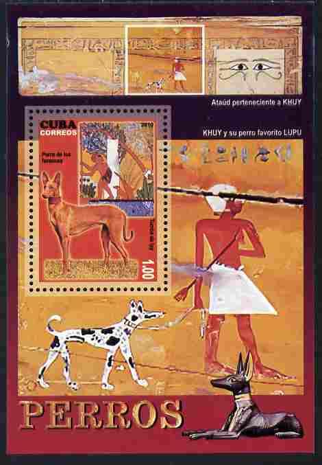 Cuba 2010 Dogs & Classical Art perf m/sheet unmounted mint