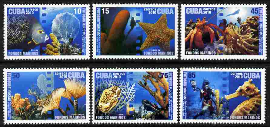Cuba 2010 Tourism - Underwater Photography perf set of 6 unmounted mint