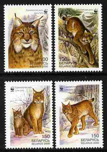 Belarus 2000 WWF - The Lynx perf set of 4 unmounted mint  SG 406-9