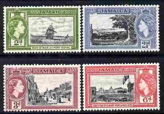 Jamaica 1955 Tercentenary set of 4 unmounted mint, SG 155-8