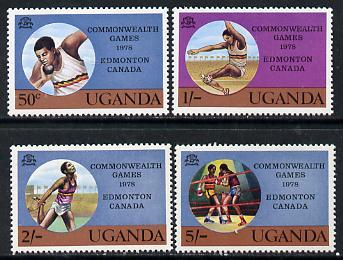 Uganda 1978 Commonwealth Games set of 4, SG 210-13 unmounted mint