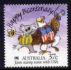 Australia & USA 1988 Joint Issue - Bicentenary of Australian Settlement (11th series) unmounted mint, SG 1110