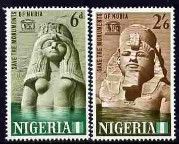 Nigeria 1964 Nubian Monuments perf set of 2 unmounted mint, SG145-6