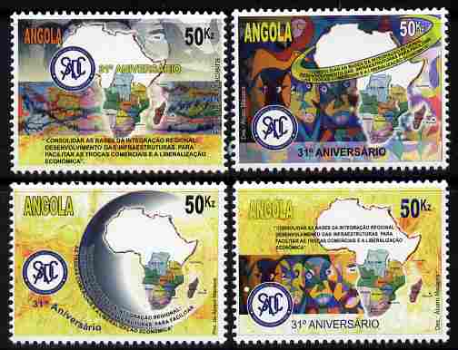 Angola 2011 31st Anniversary of SADC perf set of 4 unmounted mint