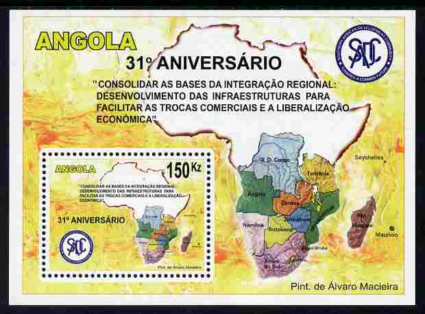 Angola 2011 31st Anniversary of SADC perf m/sheet unmounted mint