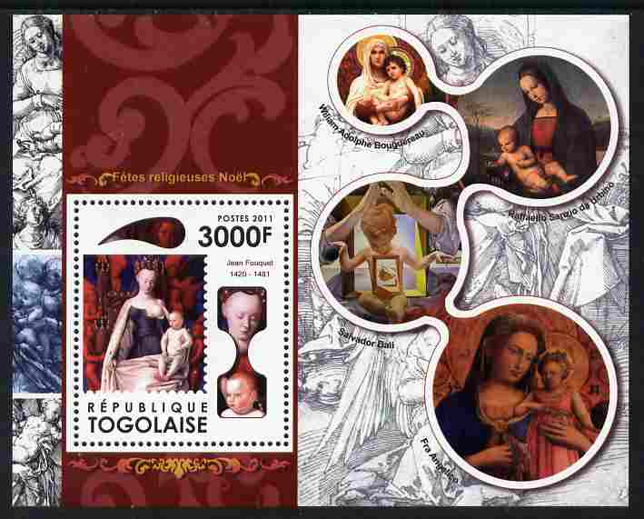 Togo 2011 Christmas perf m/sheet unmounted mint