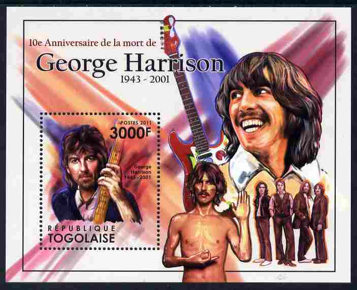 Togo 2011 Tenth Death Anniversary of George Harrison perf m/sheet unmounted mint