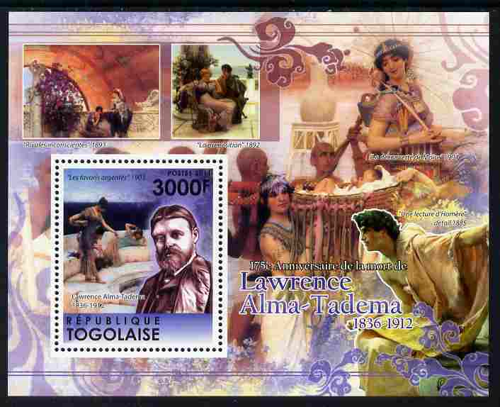 Togo 2011 175th Death Anniversary of Lawrence Alma-Tadema perf m/sheet unmounted mint
