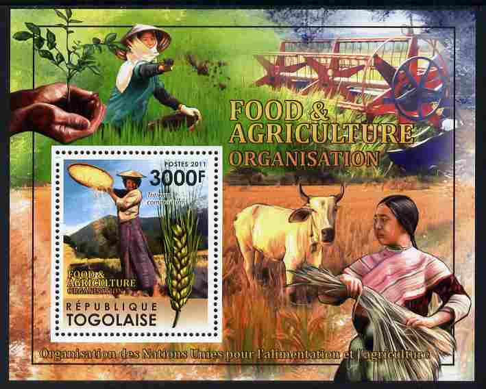 Togo 2011 Food & Agriculture perf m/sheet unmounted mint