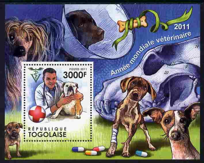 Togo 2011 World Veterinary Year perf m/sheet unmounted mint