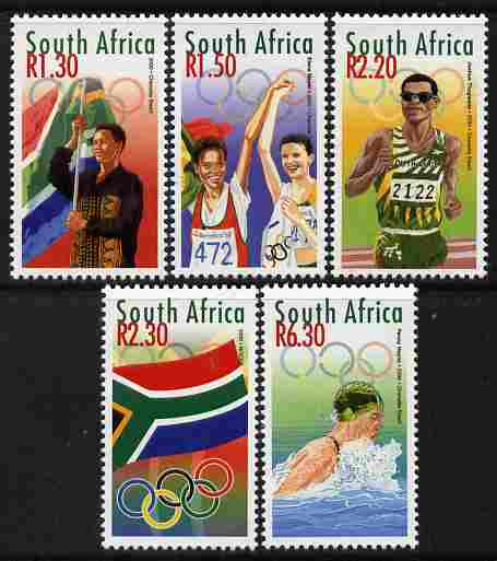 South Africa 2000 Sydney Olympic Games perf set of 5 unmounted mint SG 1192-96