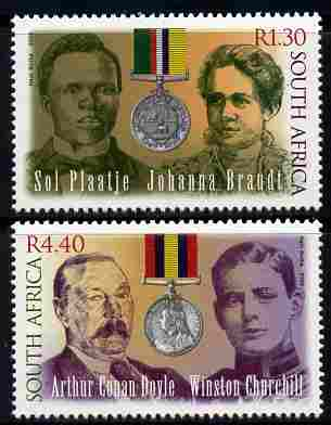 South Africa 2000 Centenary of Anglo-Boer War - 2nd issue perf set of 2 unmounted mint SG 1203-4