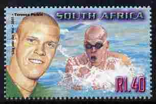 South Africa 2001 Sporting Heroes - Terence Parkin (swimming) 1r40 unmounted mint SG 1251