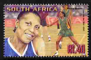 South Africa 2001 Sporting Heroes - Rosina Magola (netball) 1r40 unmounted mint SG 1252