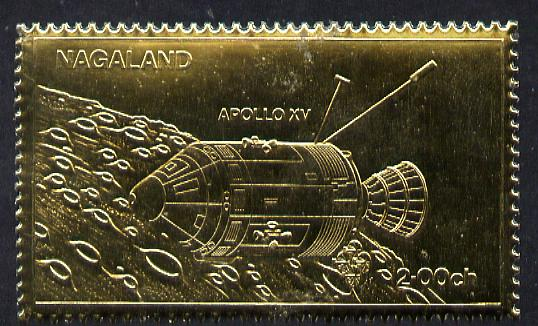 Nagaland 1972 Apollo 15 2ch value embossed in gold foil (perf) unmounted mint