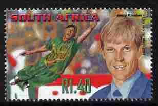 South Africa 2001 Sporting Heroes - Jonty Rhodes (cricket) 1r40 unmounted mint SG 1255