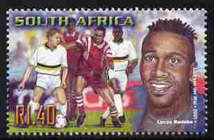 South Africa 2001 Sporting Heroes - Lucas Radebe (football) 1r40 unmounted mint SG 1249