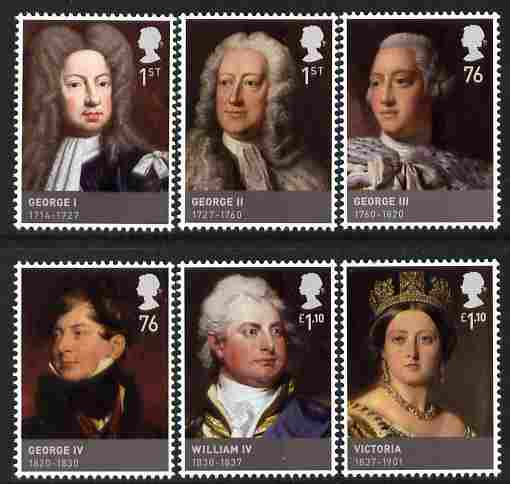 Great Britain 2011 The Hanoverians perf set of 6 unmounted mint