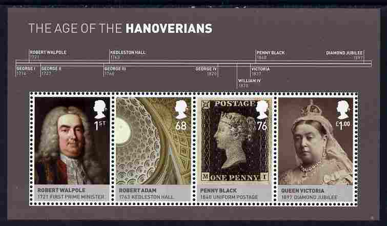 Great Britain 2011 The Hanoverians perf m/sheet unmounted mint