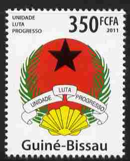 Guinea - Bissau 2011 Coat of Arms 350f unmounted mint