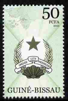 Guinea - Bissau 2011 Coat of Arms 50f unmounted mint