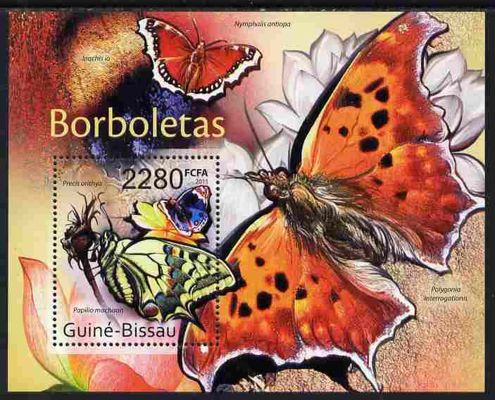 Guinea - Bissau 2011 Butterflies #1 perf m/sheet unmounted mint, stamps on butterflies