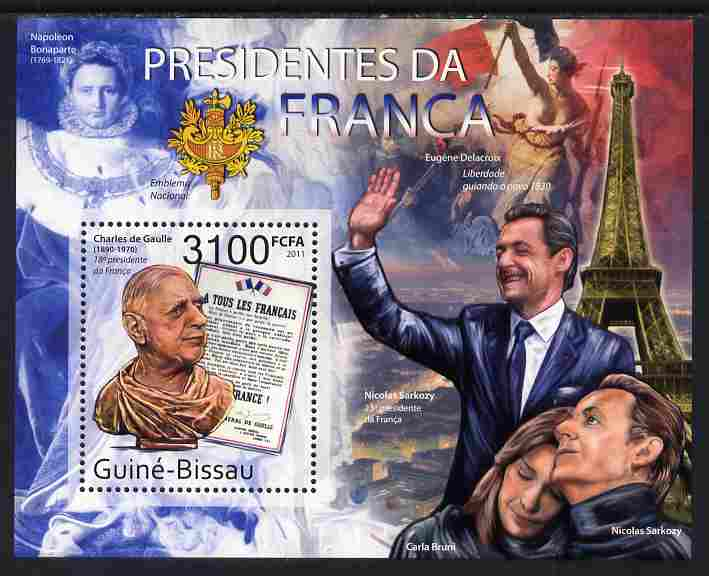 Guinea - Bissau 2011 French Presidents perf m/sheet unmounted mint