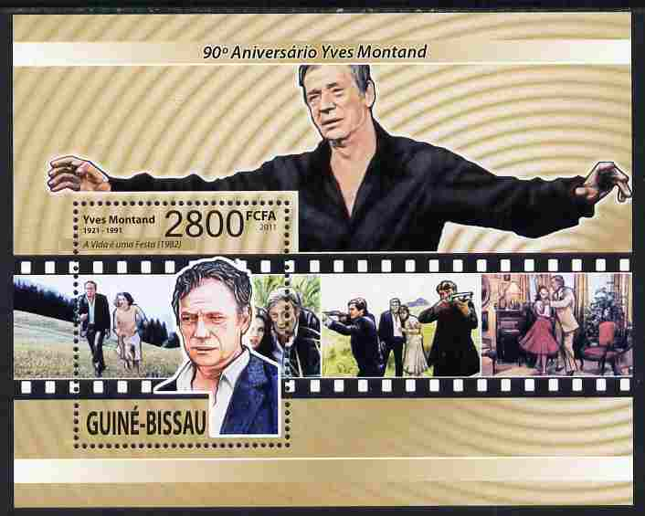 Guinea - Bissau 2011 90th Birth Anniversary of Yves Montand perf m/sheet unmounted mint