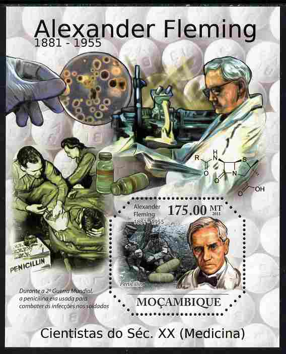 Mozambique 2011 Alexander Fleming perf m/sheet unmounted mint