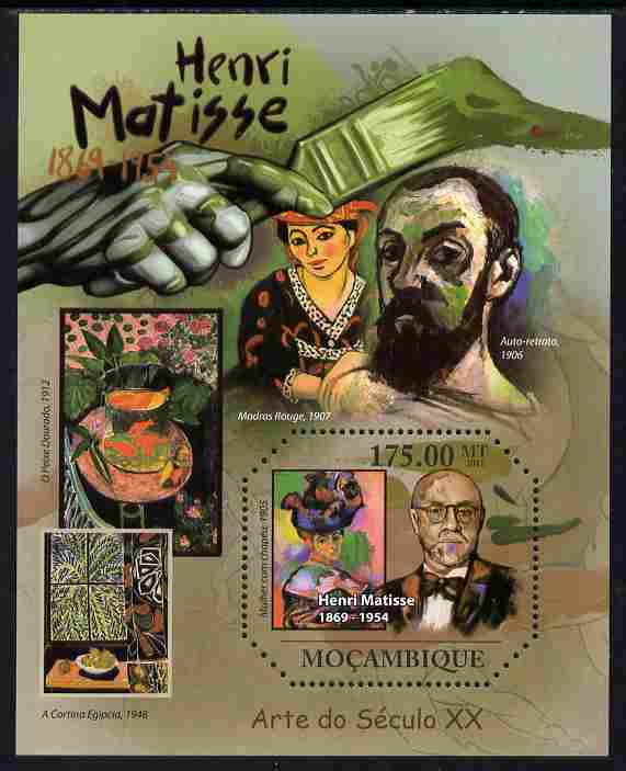 Mozambique 2011 Henry Matisse perf m/sheet unmounted mint