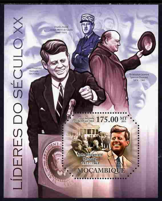 Mozambique 2011 Leaders of the 20th Century #1 perf m/sheet unmounted mint