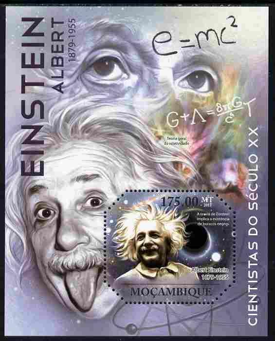 Mozambique 2011 Albert Einstein perf m/sheet unmounted mint