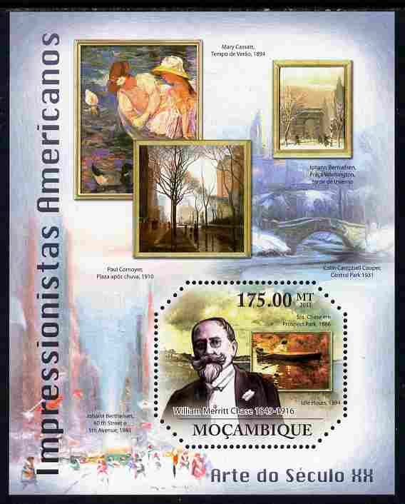 Mozambique 2011 American Impressionists perf m/sheet unmounted mint