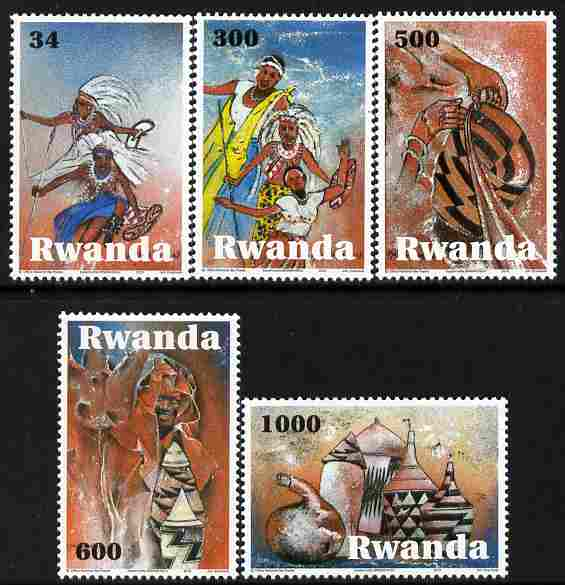 Rwanda 2011 Art & Culture perf set of 5 values unmounted mint