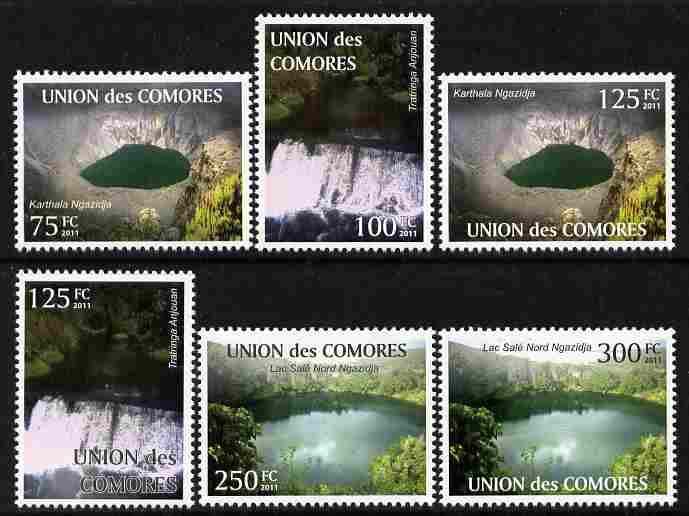 Comoro Islands 2011 Tourism perf set of 6 values unmounted mint