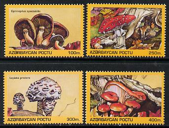 Azerbaijan 1995 Fungi set of 4 unmounted mint*