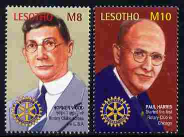 Lesotho 2002 25th Anniversary of Rotary International perf set of 2 unmounted mint SG 1890-91