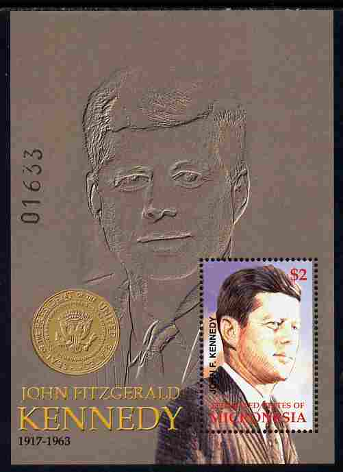 Micronesia 2002 85th Birth Anniversary of John F Kennedy perf m/sheet unmounted mint SG MS 1187b