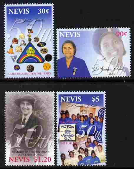 Nevis 2004 50th Anniversary of Nevis Girl Guides perf set of 4 unmounted mint SG 1832-35