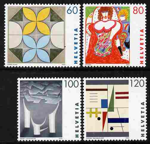 Switzerland 1993 Paintings by Swiss Women Artists perf set of 4 unmounted mint SG 1272-75
