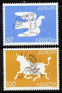 Switzerland 1995 Europa - Peace and Freedom perf set of 2 unmounted mint SG 1305-6