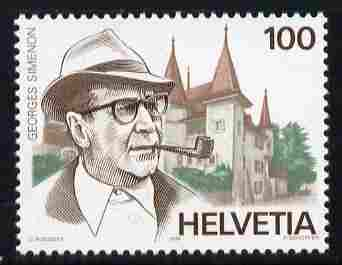 Switzerland 1994 Fifth Death Anniversary of Georges Simenon (novelist) 100c unmounted mint SG 1292