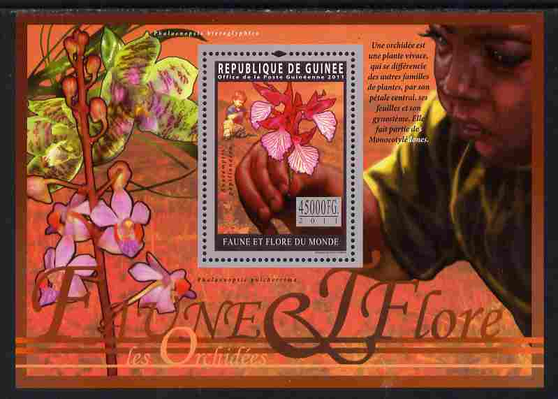 Guinea - Conakry 2011 Orchids perf s/sheet unmounted mint