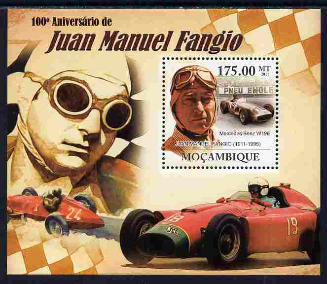 Mozambique 2011 Birth Centenary of Juan Manuel Fangio perf s/sheet unmounted mint Michel BL 453