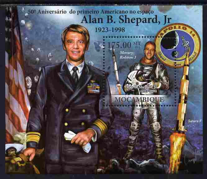 Mozambique 2011 Alan B Shepard - 50th Anniversary of First American in Space perf s/sheet unmounted mint Michel BL 457